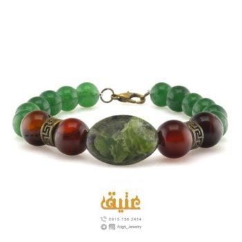 دستبند سرافینیت، عقیق سرخ و عقیق سبز