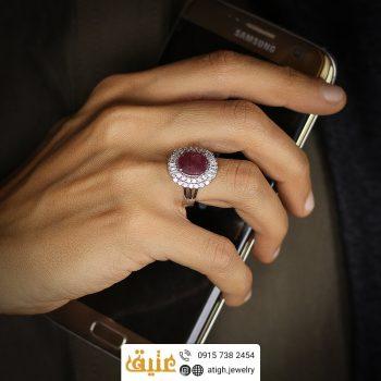 خرید انگشتر یاقوت زنانه