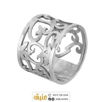 انگشتر نقره اسلیمی دستساز