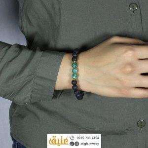 دستبند لاوا و فیروزه آفریقایی