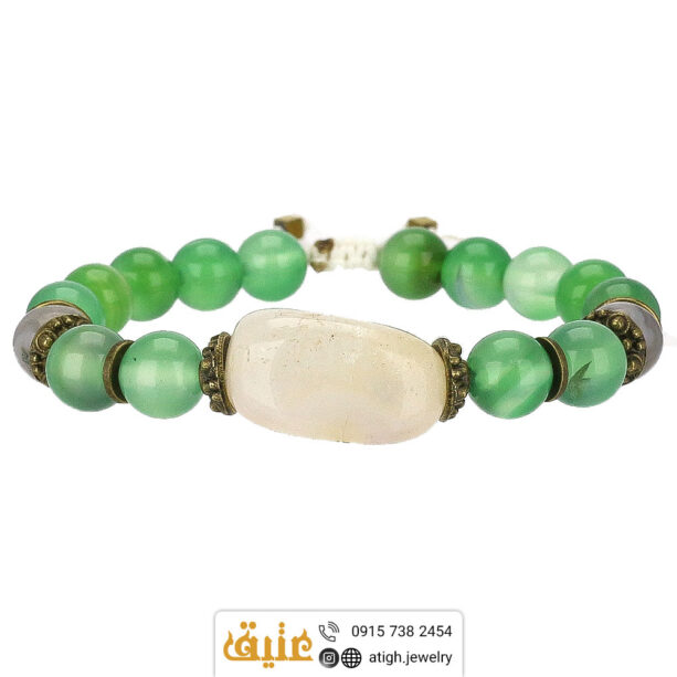 دستبند عقیق سبز