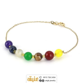 دستبند نقره هفت سنگ چاکرا