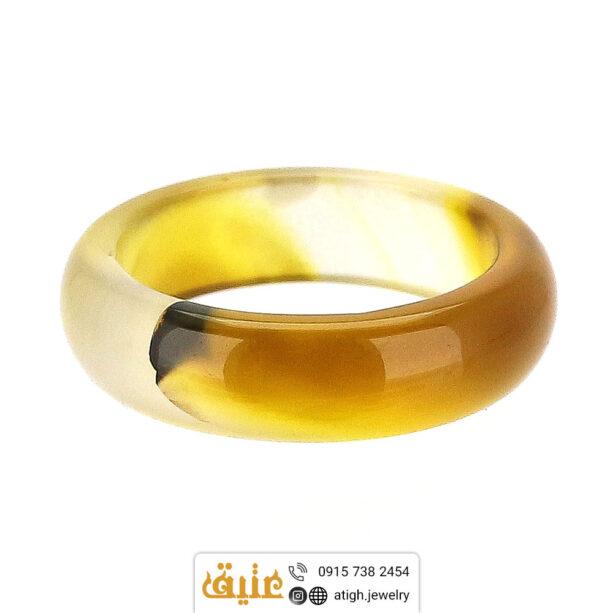 حلقه عقیق سلیمانی اصلی سایز ۵۷