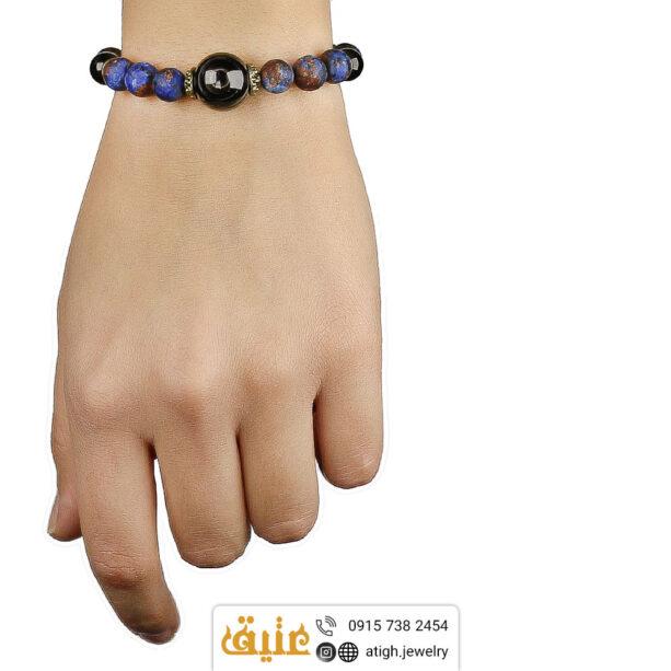 دستبند لوکس عقیق باباقوری کهکشان