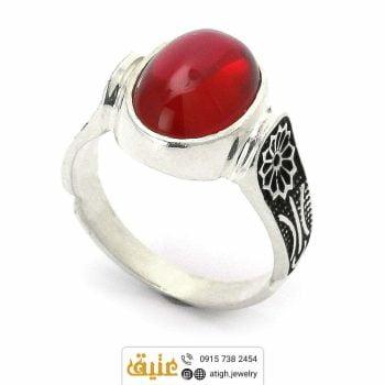 انگشتر نقره یاقوت سرخ