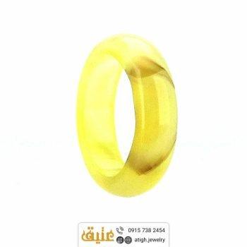 خرید حلقه عقیق سلیمانی طبیعی با رگه های زیبا سایز ۵۶