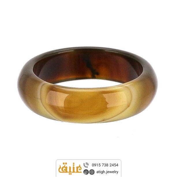 حلقه عقیق سلیمانی اصلی سایز ۵۶ | سایت جواهری عتیق: atigh.jewelry