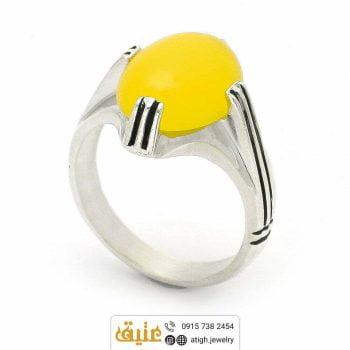 انگشتر نقره عقیق زرد شرف الشمس