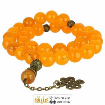 خریذ تسبیح جید نارنجی