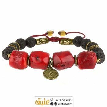 خرید دستبند مرجان و لاوا