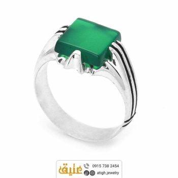 خرید انگشتر عقیق سبز