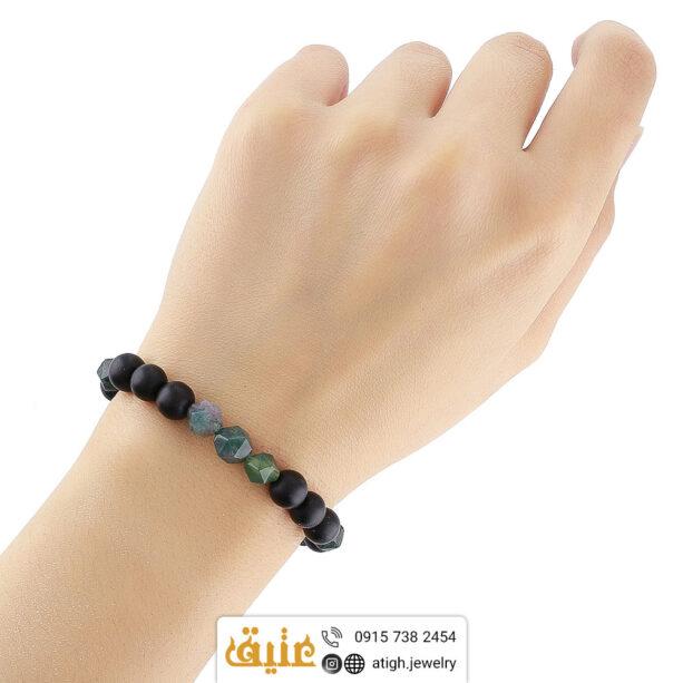 خرید دستبند جاسپر و عقیق