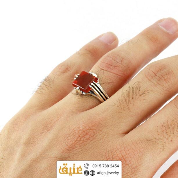 خرید انگشتر نقره عقیق سرخ