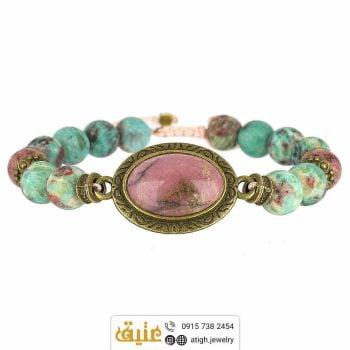 خرید دستبند رودونیت و فیروزه