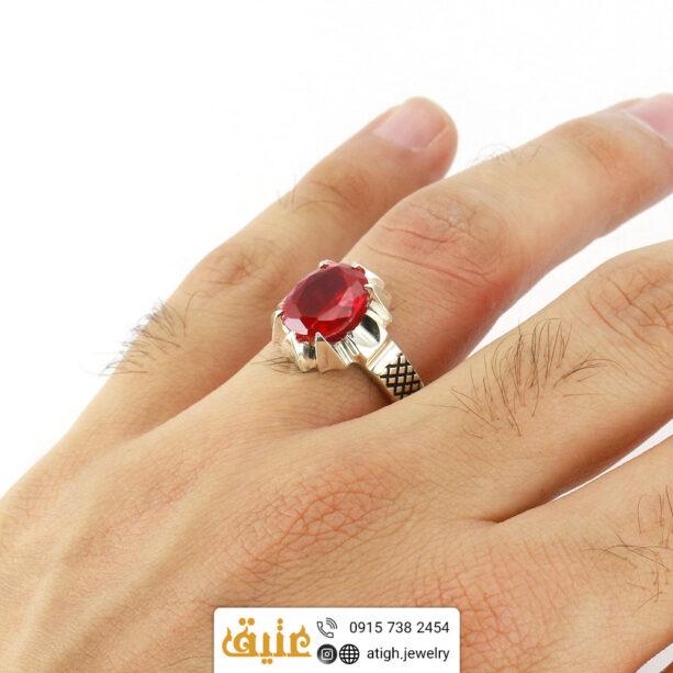 خرید انگشتر نقره یاقوت سرخ