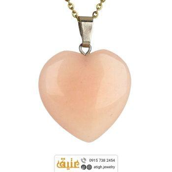 خرید گردنبند کوارتز قلب