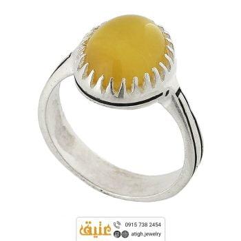 خرید انگشتر عقیق زرد (شرف الشمس)