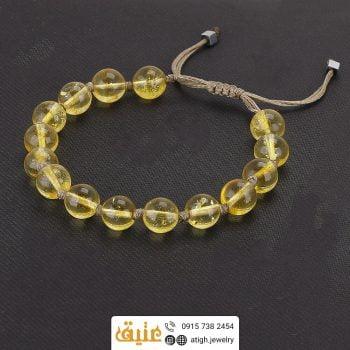 خرید دستبند سیترین معدنی