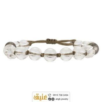 خرید دستبند کریستال کوارتز معدنی