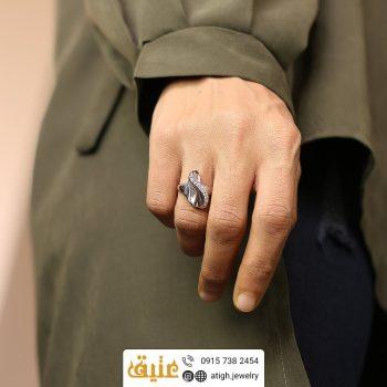خرید انگشتر نقره صدف