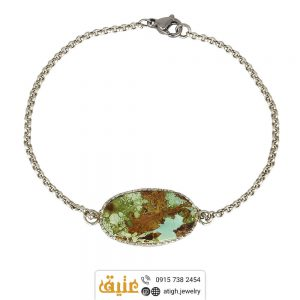 خرید دستبند نقره فیروزه