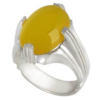 انگشتر عقیق زرد شرف الشمس نقره
