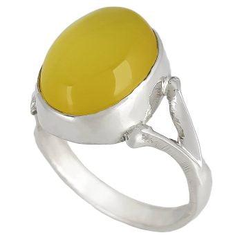 خرید انگشتر عقیق زرد شرف الشمس نقره مردانه