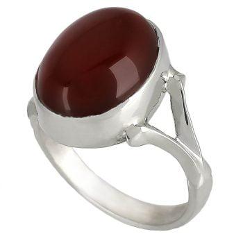 خرید انگشتر عقیق سرخ نقره مردانه