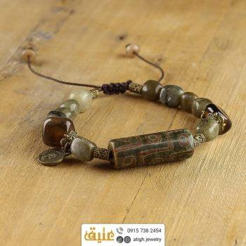 خرید دستبند چند جواهر لول عقیق