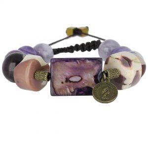 دستبند چندجواهر صدف
