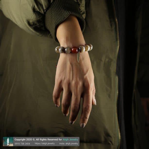 خرید دستبند گوی عقیق
