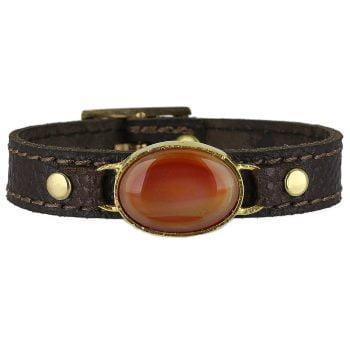 خرید دستبند چرم و غقیق