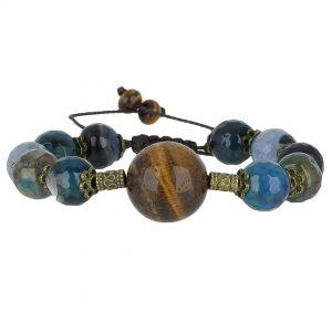 خرید دستبند چشم ببر و عقیق