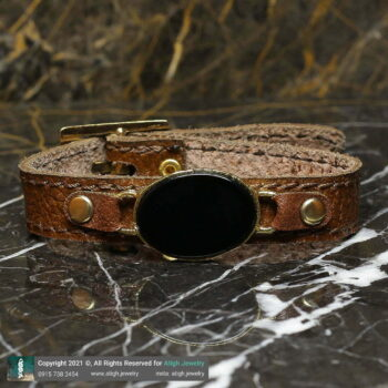 خرید دستبند چرم و عقیق