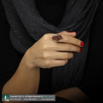 خرید انگشتر عقیق شجر