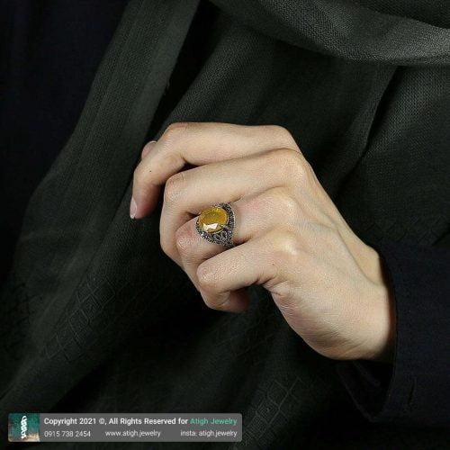 خرید انگشتر یاقوت زرد
