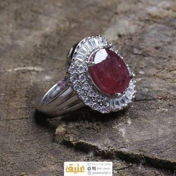 انگشتر نقره زنانه یاقوت سرخ